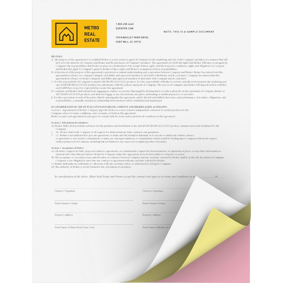 carbonless paper Excellent carbonless papers guaranteed to run on any offset press, digital machine, or high speed copier ideal for creating multi-part business forms in small or large volumes available in 2,3,4, and 5 part sets 15% off your 1st purchase.
