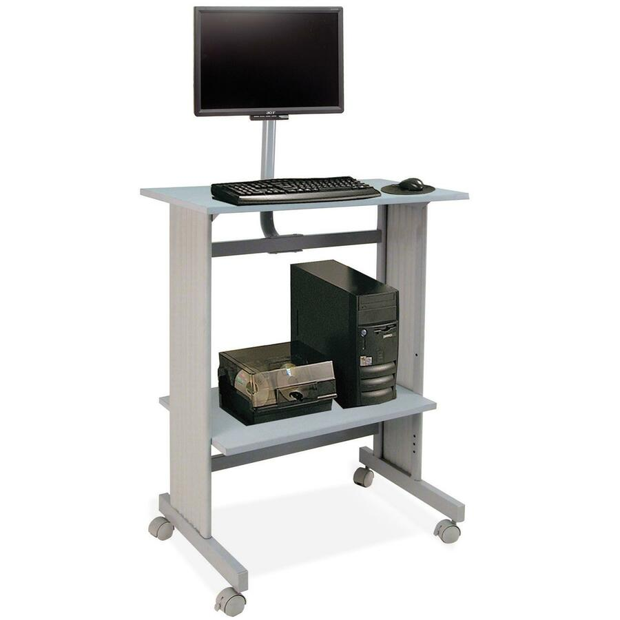 buddy stand up height work station with lcd mount bdy646418. Black Bedroom Furniture Sets. Home Design Ideas