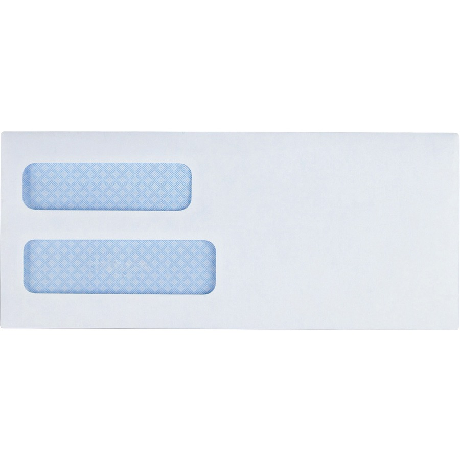 Business source double window envelope bsn42204 for Window envelopes