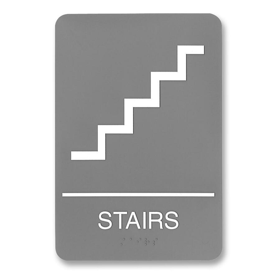 HeadLine ADA Plastic Stairs Sign USS5401