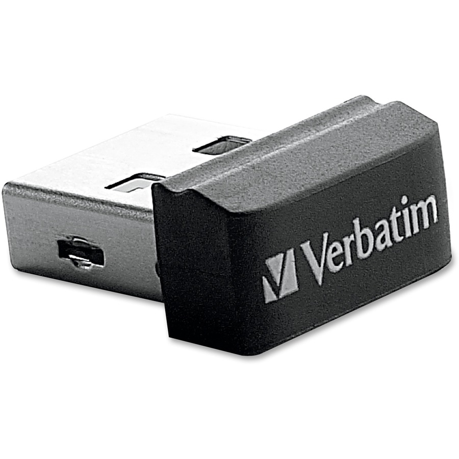 verbatim 8gb store 39 n 39 stay nano usb flash drive black. Black Bedroom Furniture Sets. Home Design Ideas