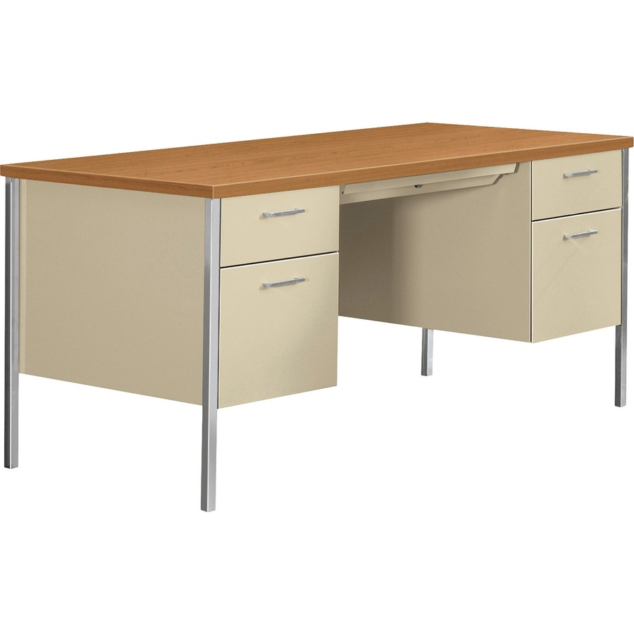 Hon 34000 series double pedestal desk - Metal office desk ...
