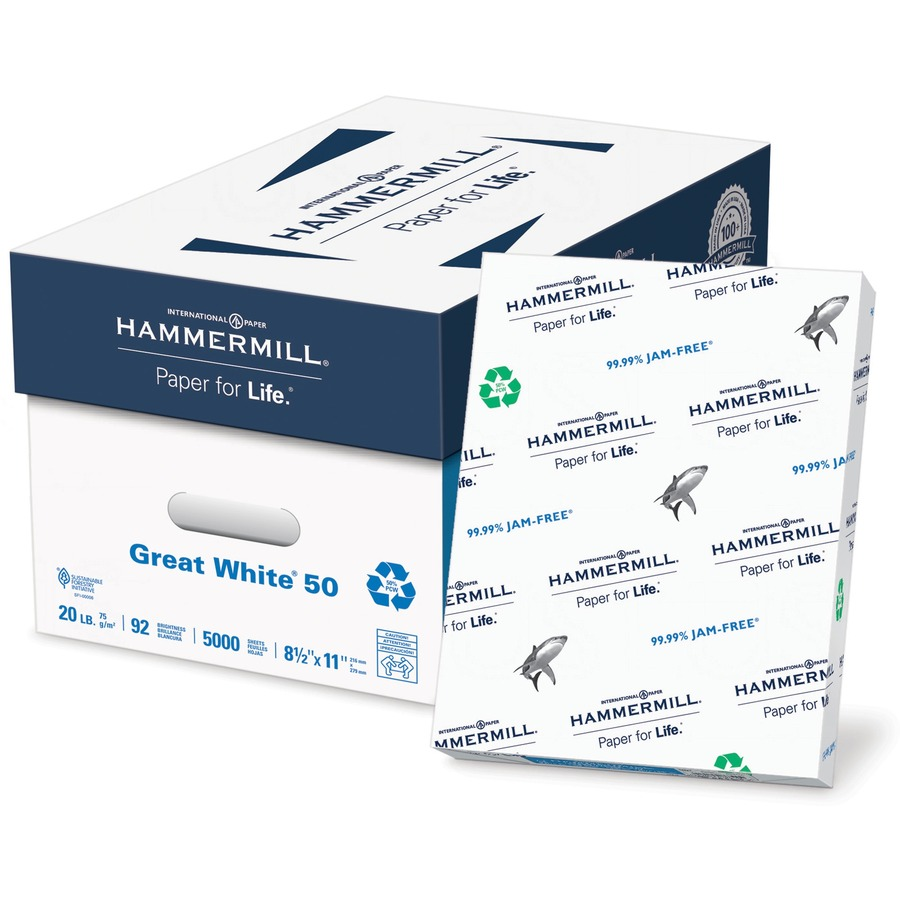 great white paper See pricing info, deals and product reviews for hammermill great white recycled copy paper, 8-1/2 x 11, 92 bright, 20 lb, 10 reams of 500 sheets at quillcom order.