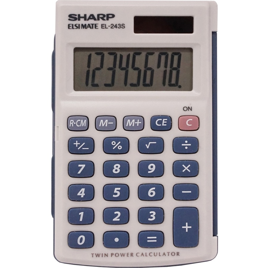 Calculadora simple Sharp Calculators Apagado Automu00e1tico, Conmutaciu00f3n ...
