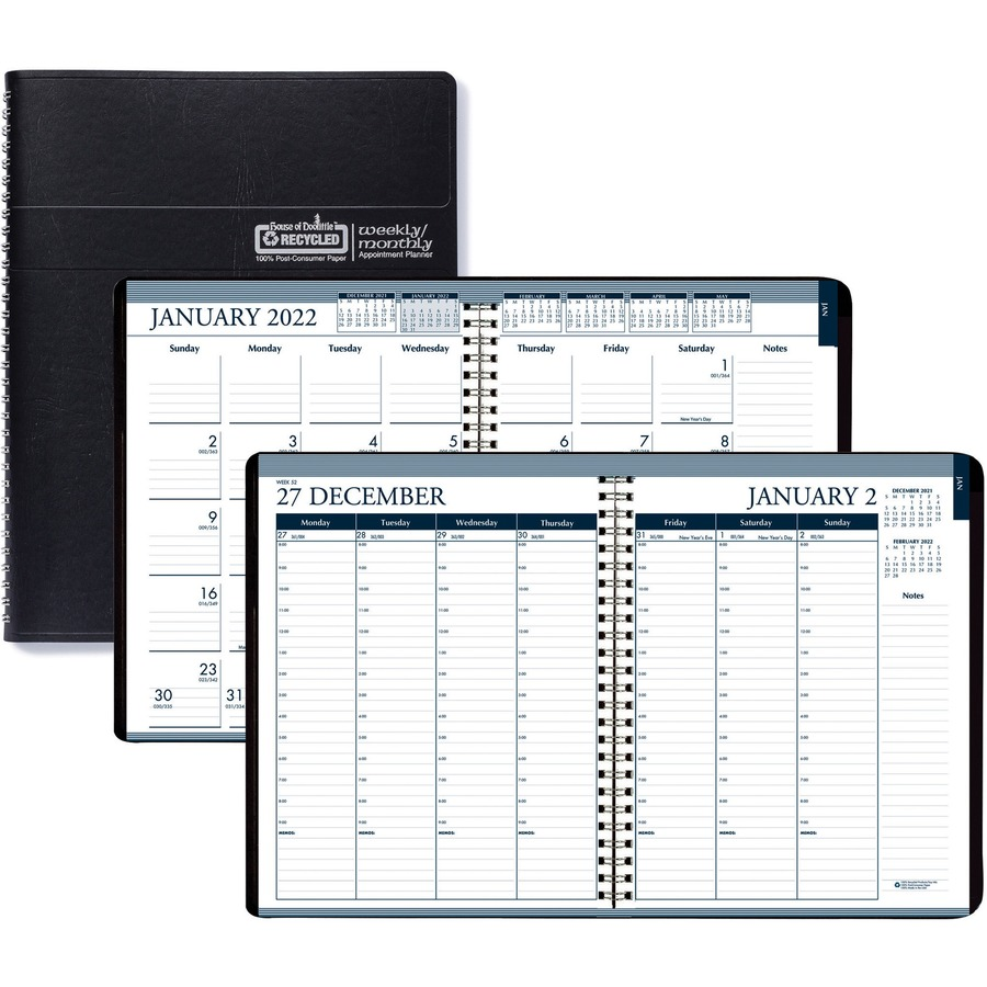 Hod28302 House Of Doolittle Tabbed Wirebound Weekly