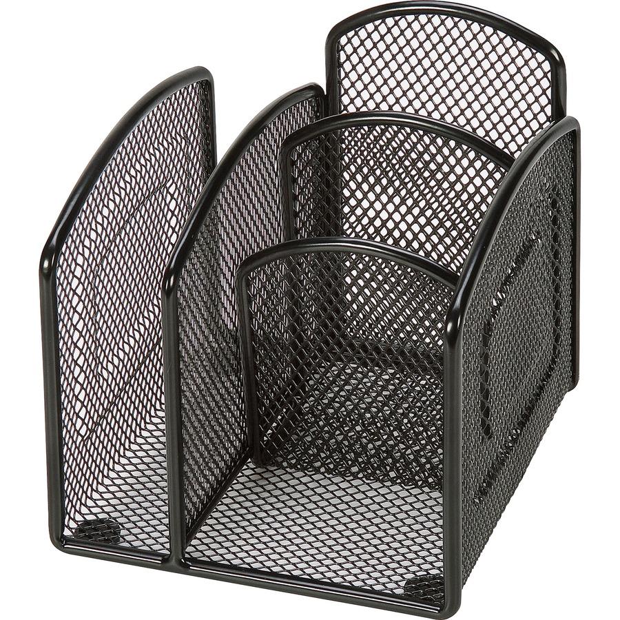 Lorell mini steel wire mesh desktop organizer - Mesh desk organizer ...