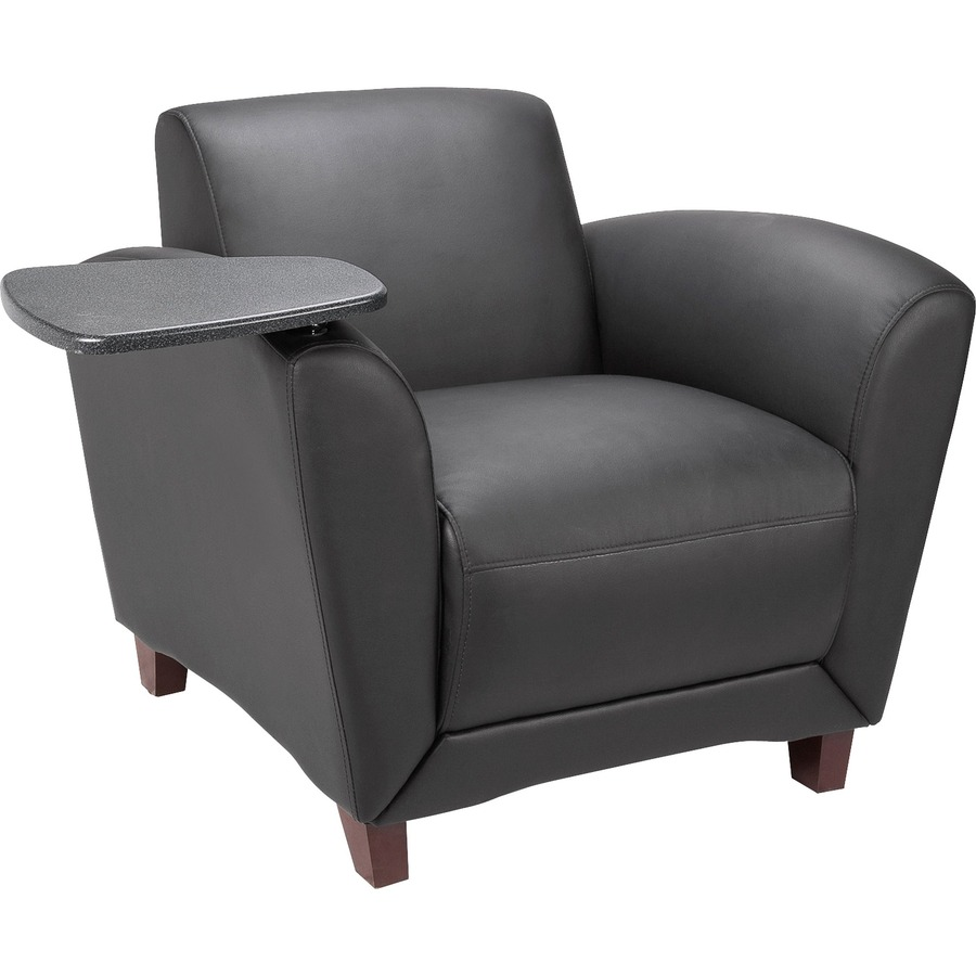 Lorell Reception Seating Chair With Tablet LLR68953