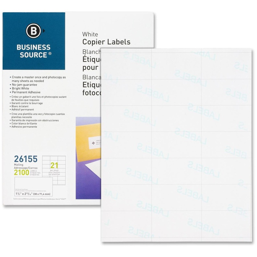 BSN26155 - Business Source Copier Shipping Labels - Office ...