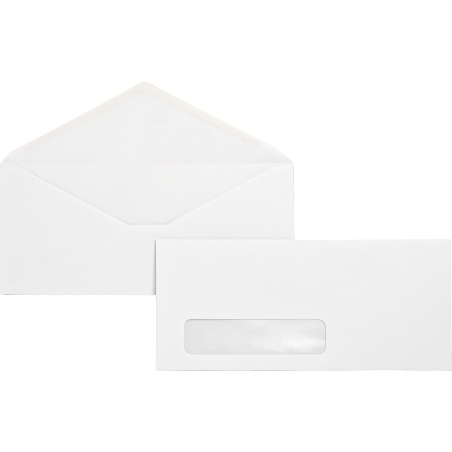 Business source no 10 diagonal seam window envelopes for Window envelopes