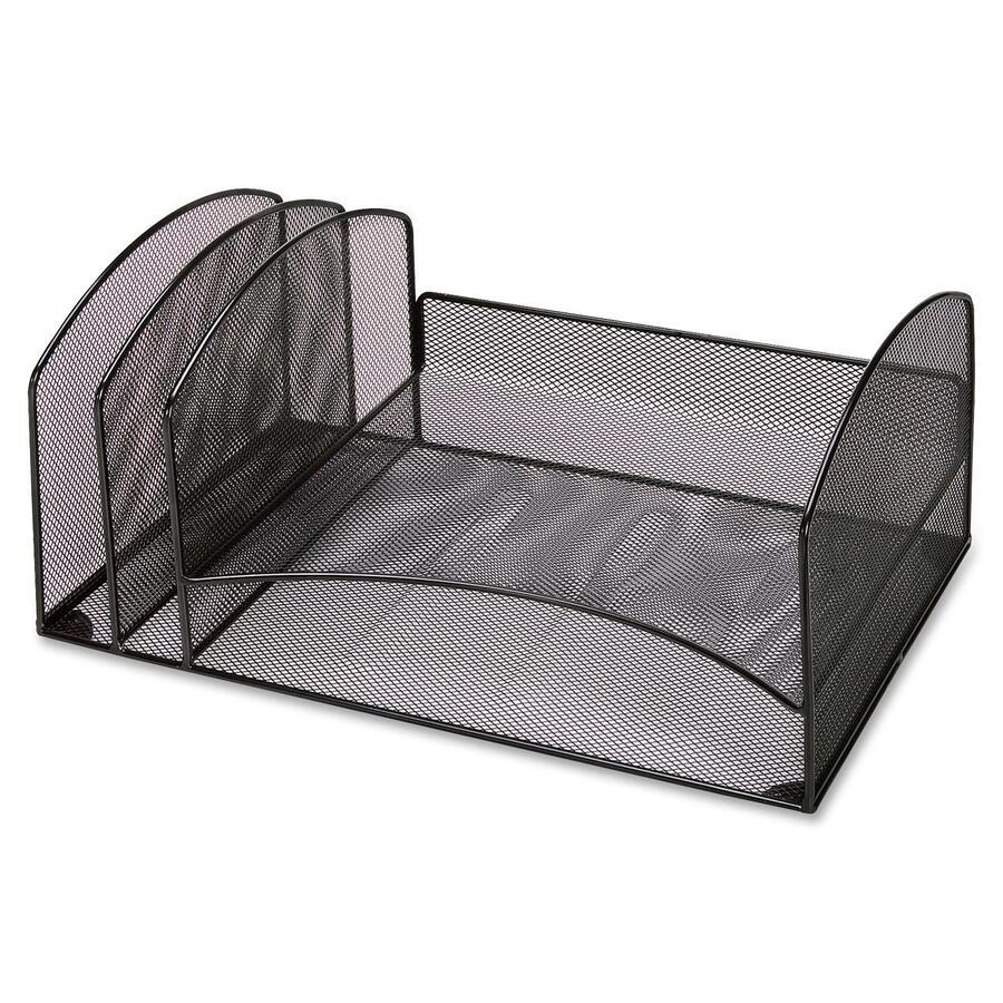 Llr37526 lorell steel mesh letter tray desktop organizer - Mesh desk organizer ...