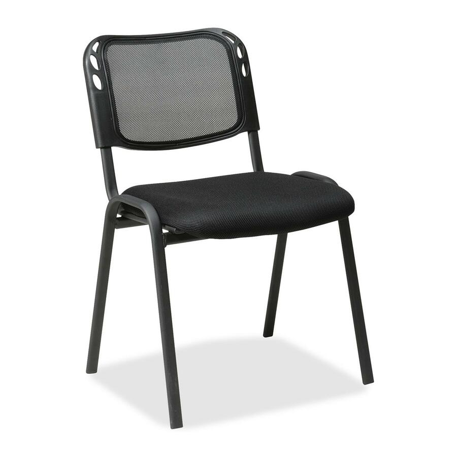 office star worksmart stc2020a armless stacking chair fabric black