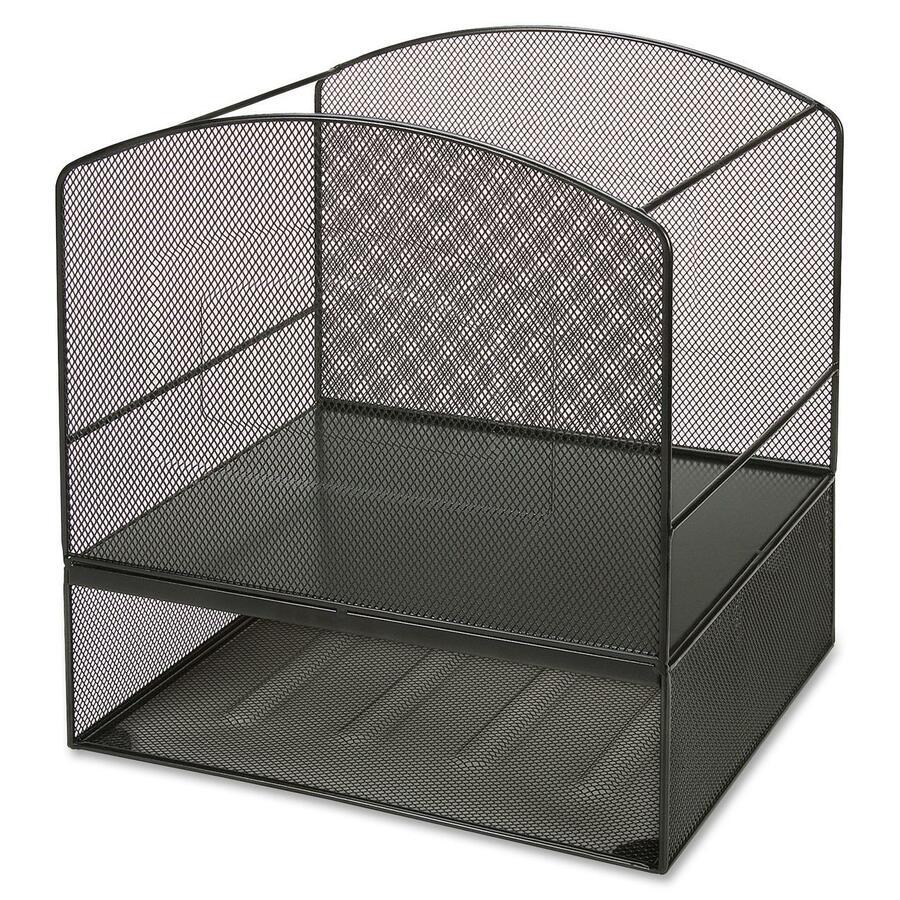 Lorell steel mesh hanging file organizer - Hanging desk organizer ...