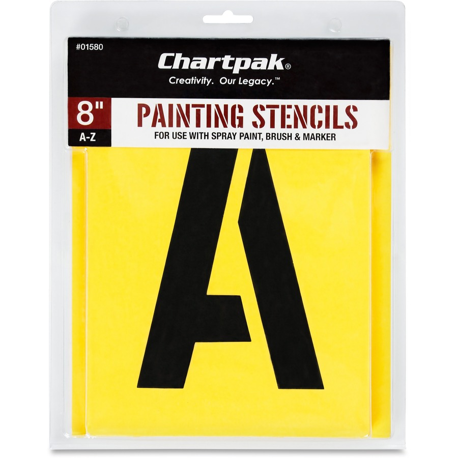 "Chartpak Painting Letters Stencil 8"" - Gothic - Yellow, Manila"