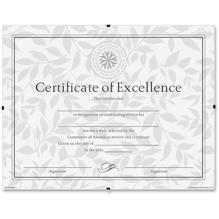 Dax Frameless Certificate Clip Frame - Urban Office Products