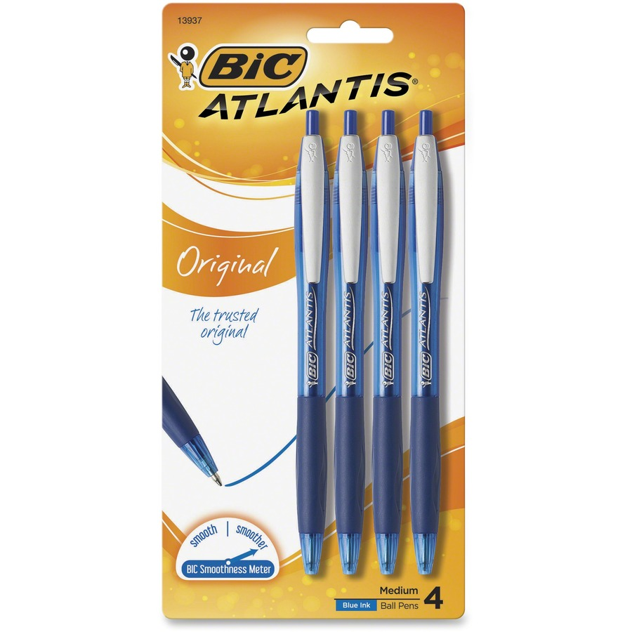 Bic Atlantis Easy Glide Retractable Ballpoint Pens Bicvcgp41blu