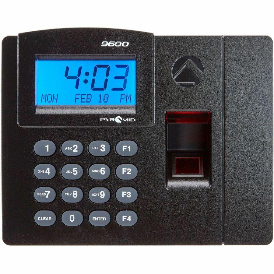 Merveilleux Pyramid Time Systems Elite Biometric Time/Attendance System Biometric, Key  Code   50 Employees   Digital