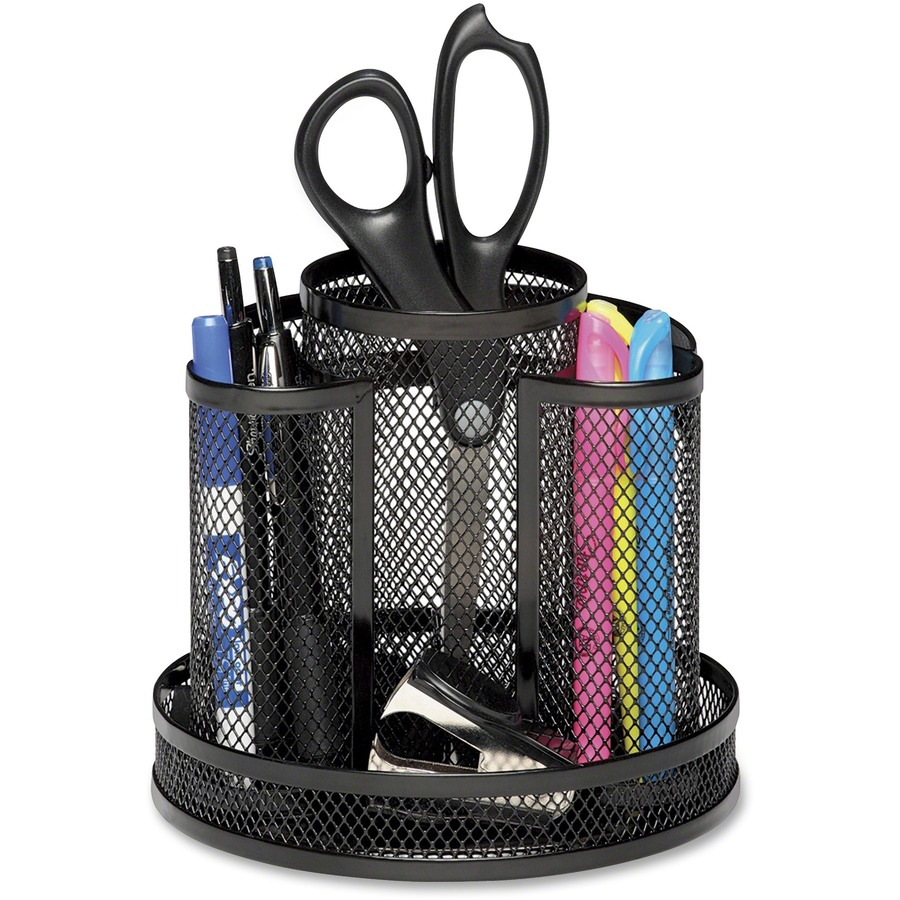 Rolodex workspace mesh spinning supply caddy - Spinning desk organizer ...