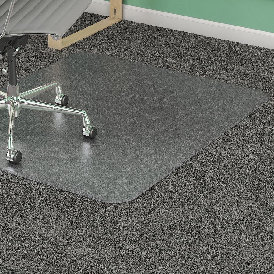 Alfombra para sillas para suelo alfombrado lorell reparto - Protector de suelo para sillas ...