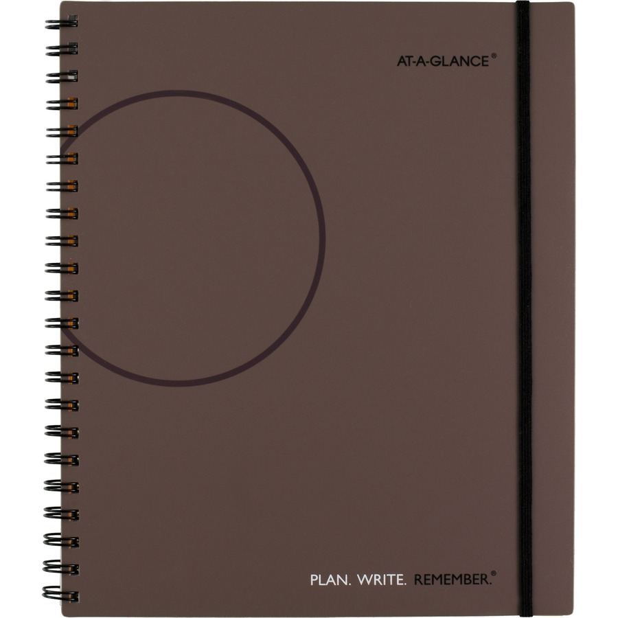 Monthly Calendar Notebook : Aag  at a glance planning notebook lined with