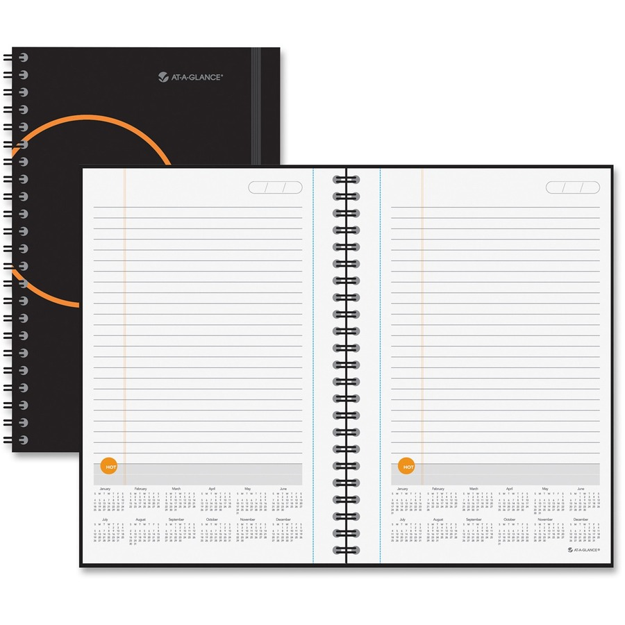 Monthly Calendar Notebook : At a glance undated planning notebook with reference