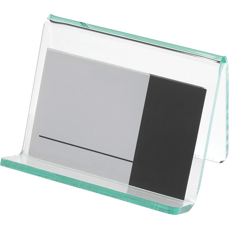 Lorell acrylic hint of green business card holder urban office lorell acrylic business card holder llr80657 reheart Gallery