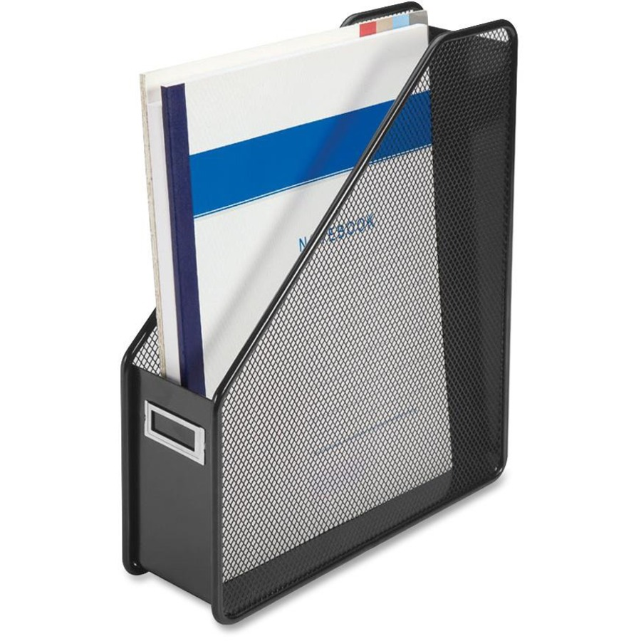 lorell mesh magazine holder 12 3 height x 3 1 width x 10 depth desktop