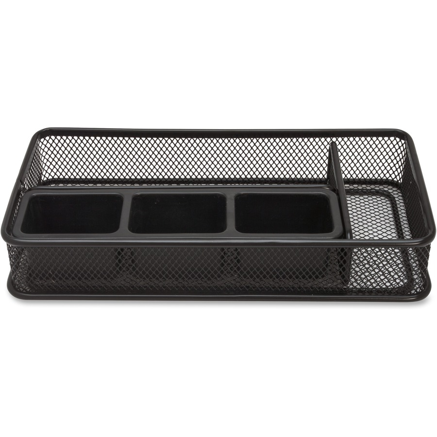 Lorell mesh desk drawer organizer - Black mesh desk organizer ...