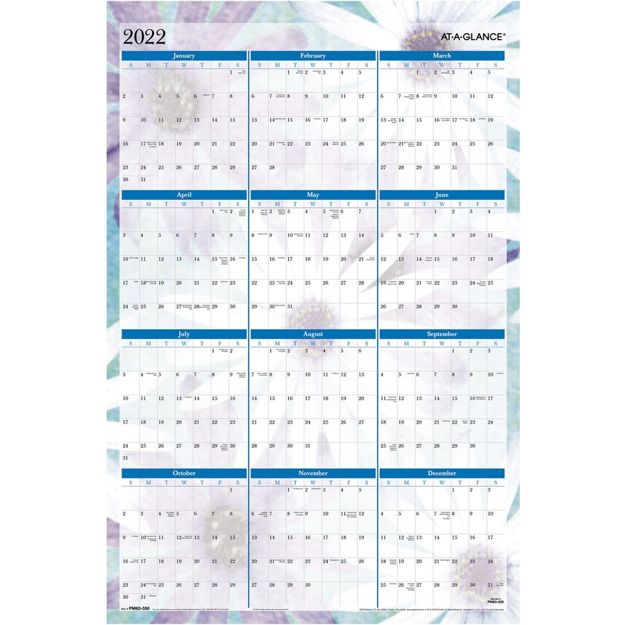 Wall Calendar Planner : At a glance dreams erasable wall calendar aagpm