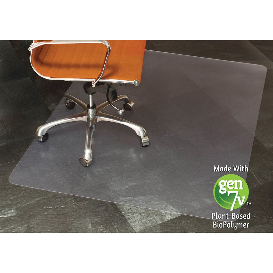 robbins gen7v clear rectangular chair mat floor hard floor desk