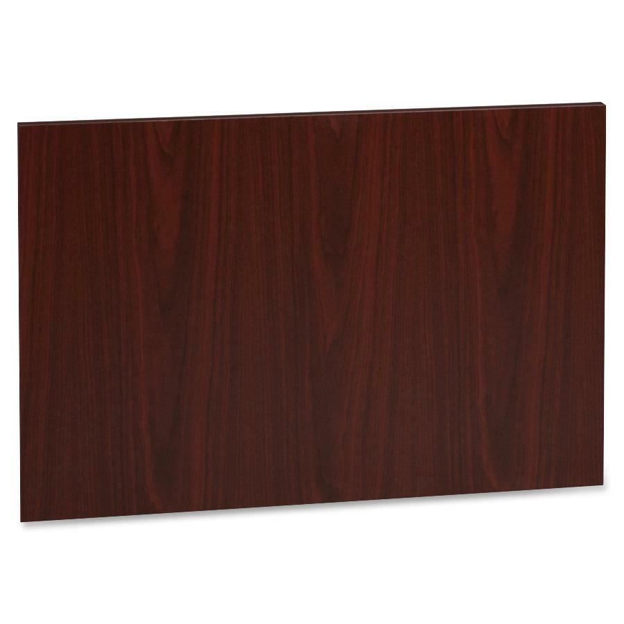 Lorell accent series mahogany laminate modesty panel for Laminate floor panels