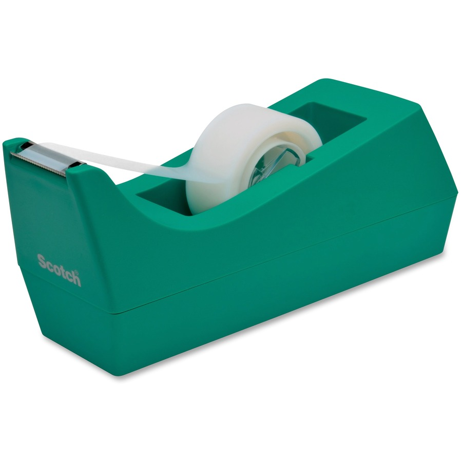 Scotch classic desktop tape dispenser for 1 quot core tapes holds total 1