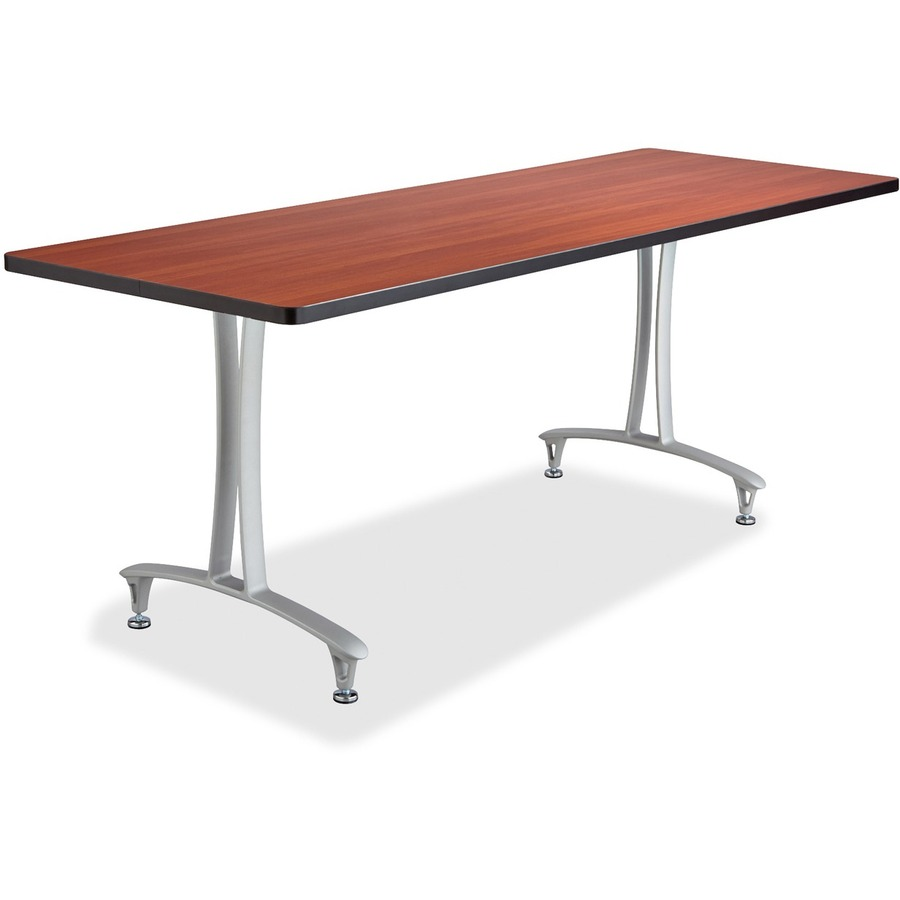 Safco cherry rumba training table w t legs glides - Table glides for legs ...