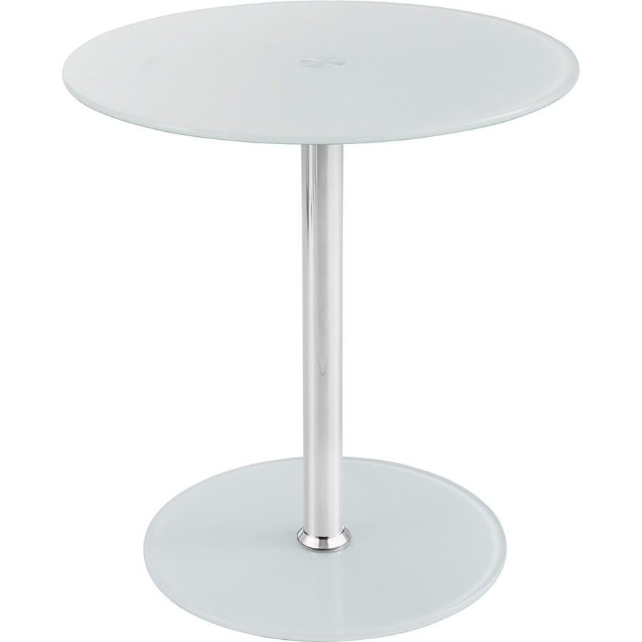 Safco Tempered Glass Accent Table SAF5095WH