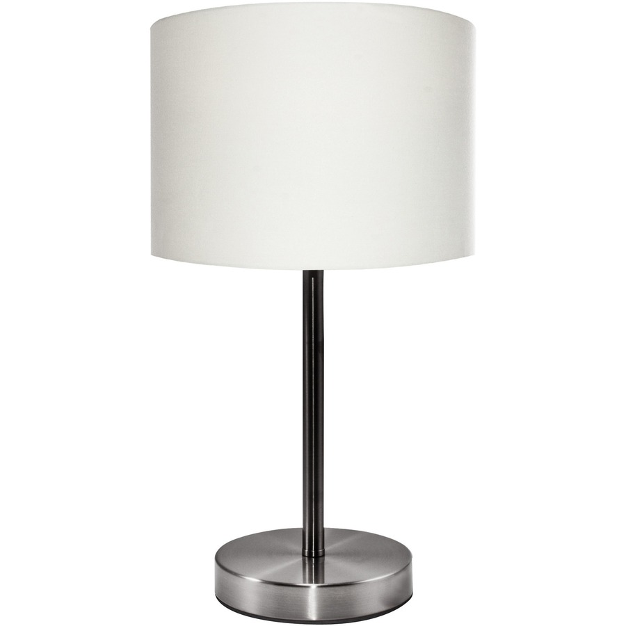 Ledu Linen Shade Slim Line Table Lamp