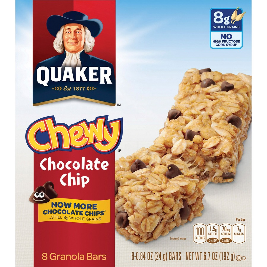 Quaker oats chocolate chip chewy granola bars qkr