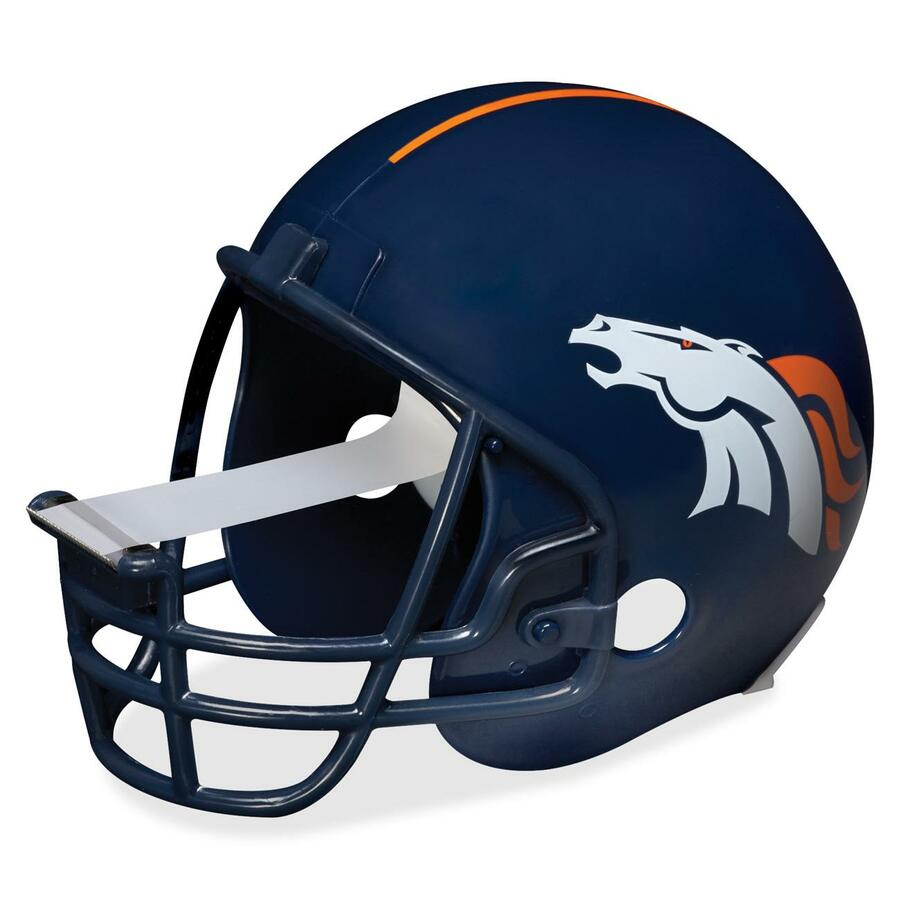 Broncos Football Helmet Front View Scotch magic tape dispenser  denver    Broncos Football Helmet Front View