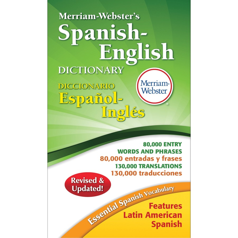 Merriam Websters Spanish English Dictionary Mer