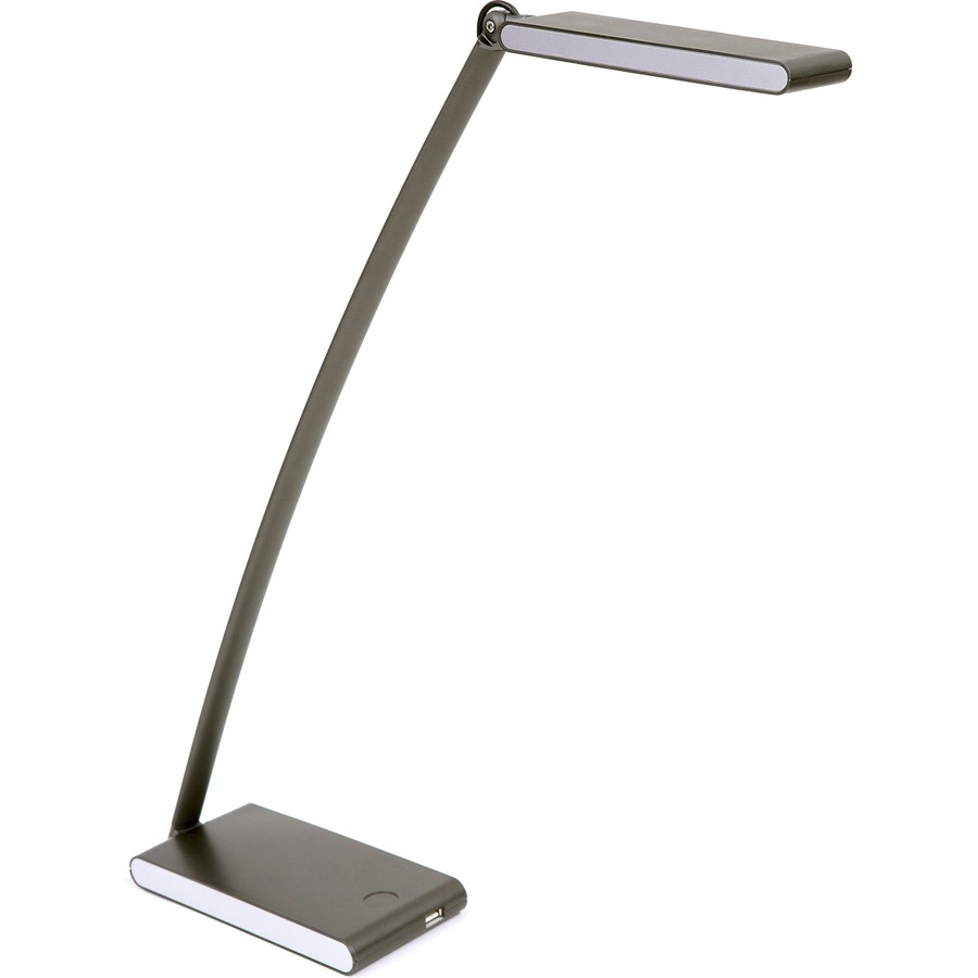 Alba Led Touch Desk Lamp 1 X 6 W Bulb Articulated Arm Swivel Head Weighted Base Activated 1200 Lumens Plastic Metal