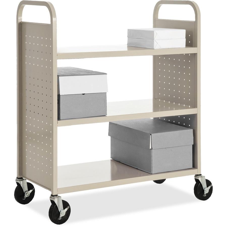 Llr49203 Lorell Flat Shelf Book Cart Office Supply Hut