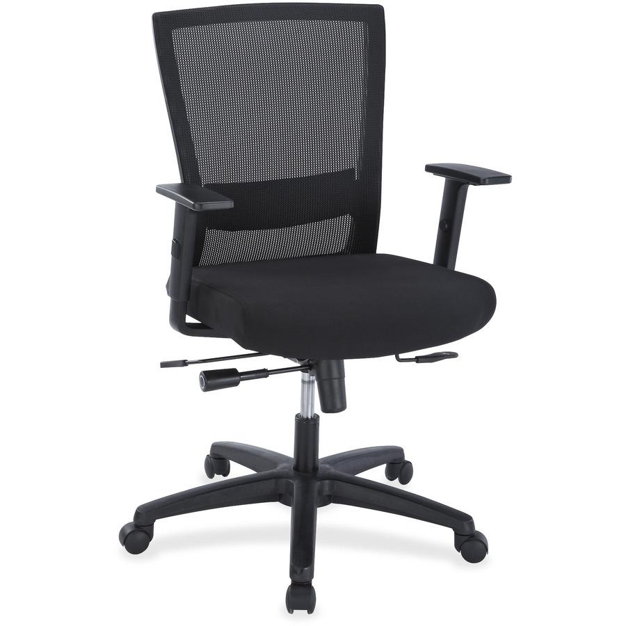 LLR54850 Lorell Ergonomic Mid Back Mesh Chair Office