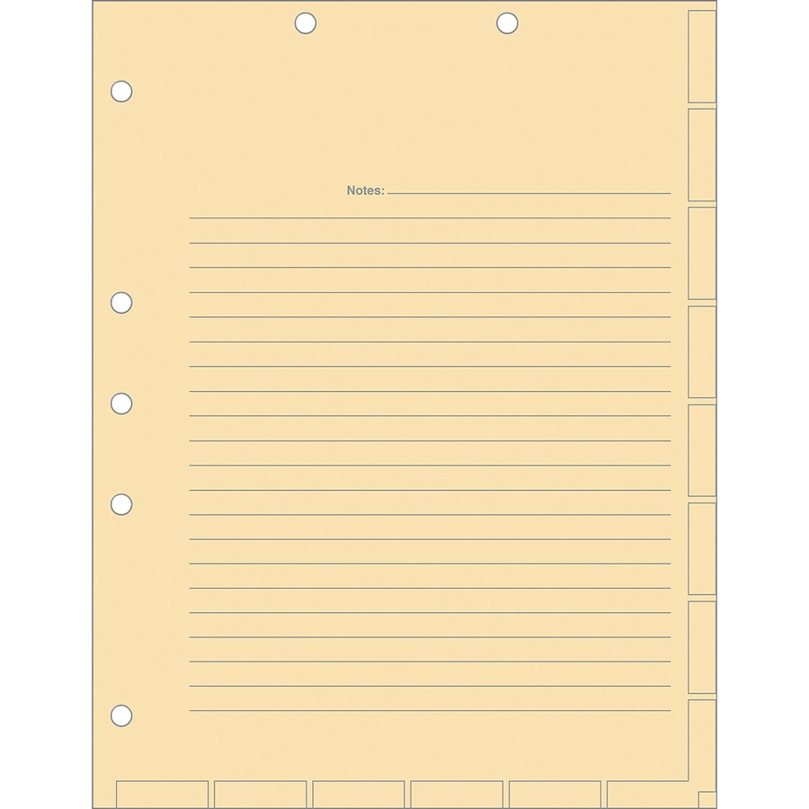 Medical Chart Dividers Chart Divider Sheets 8.50