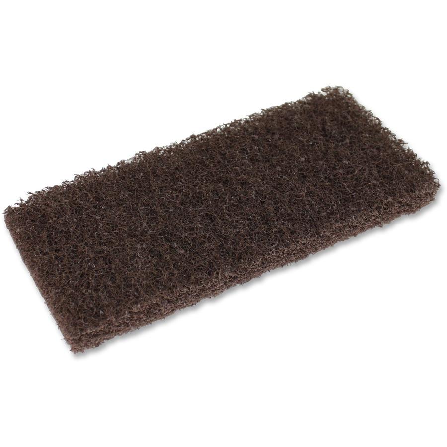 Genuine Joe Brown Cleaning Pads Walkers Office Supplies