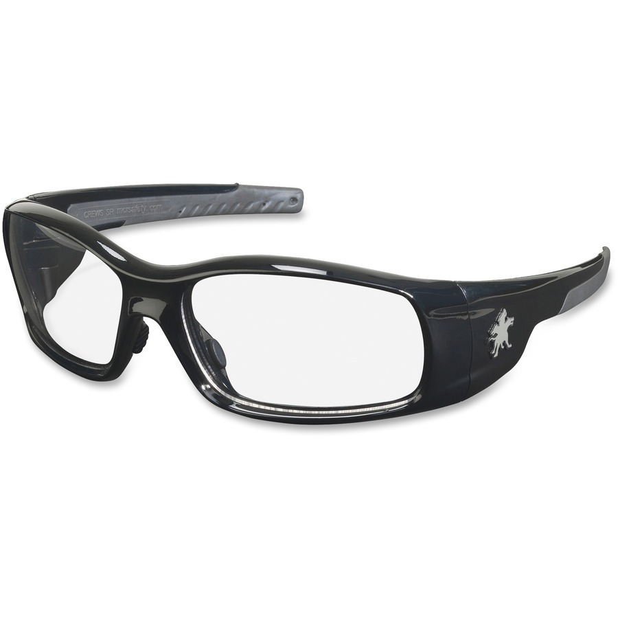 Safety Glasses Black Frame : Crews Swagger Black Frame Safety Glasses - MCSCRWSR110 ...