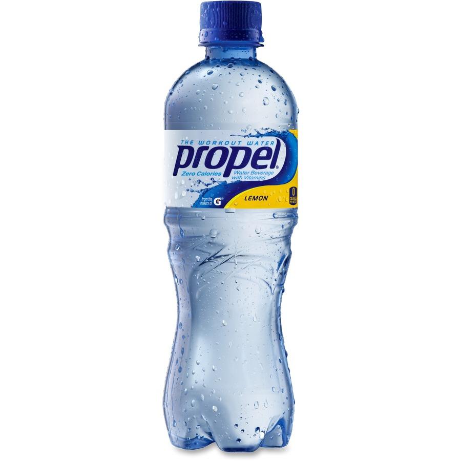 Propel Bottled Drink Beverage Lemon - 16.90 fl oz - Bottle - 24/Carton