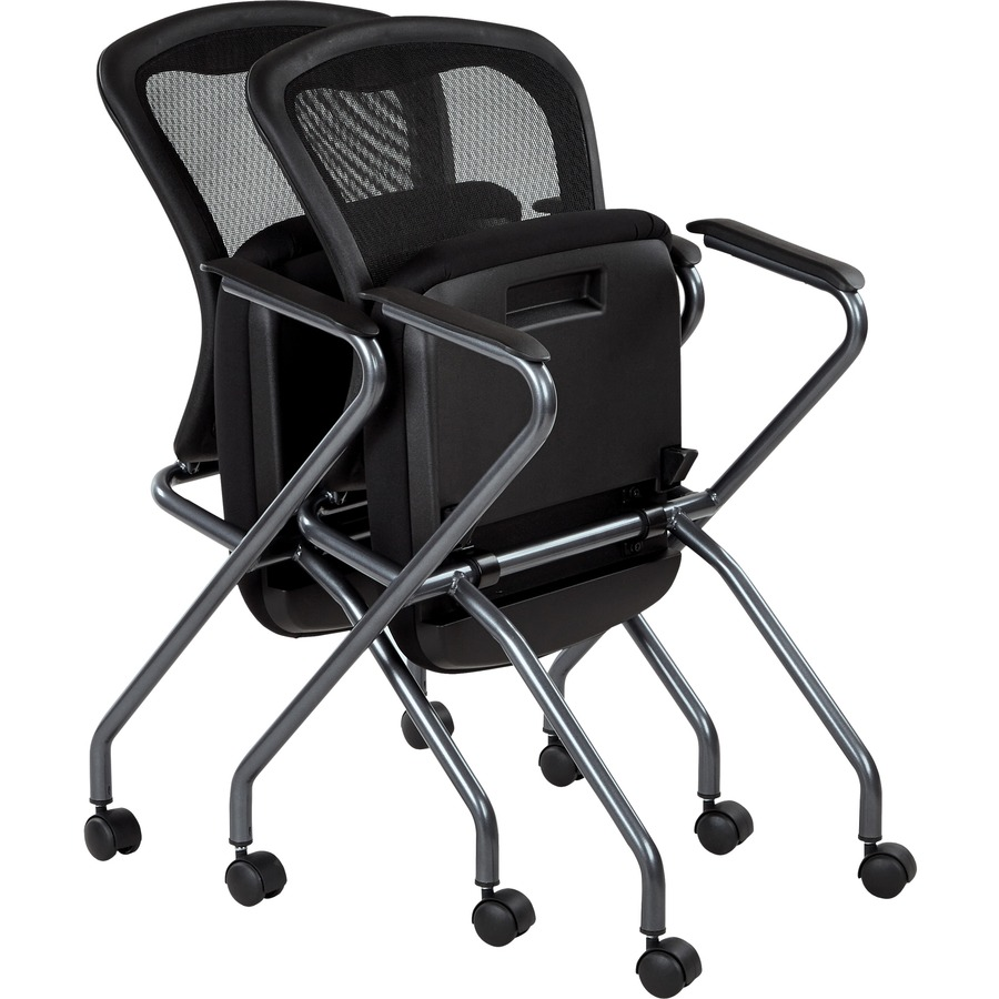 proline ii deluxe folding chair 2 pack plastic titanium frame