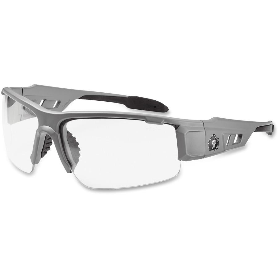 Ergodyne Clear Lens/Gray Half Frame Safety Glasses