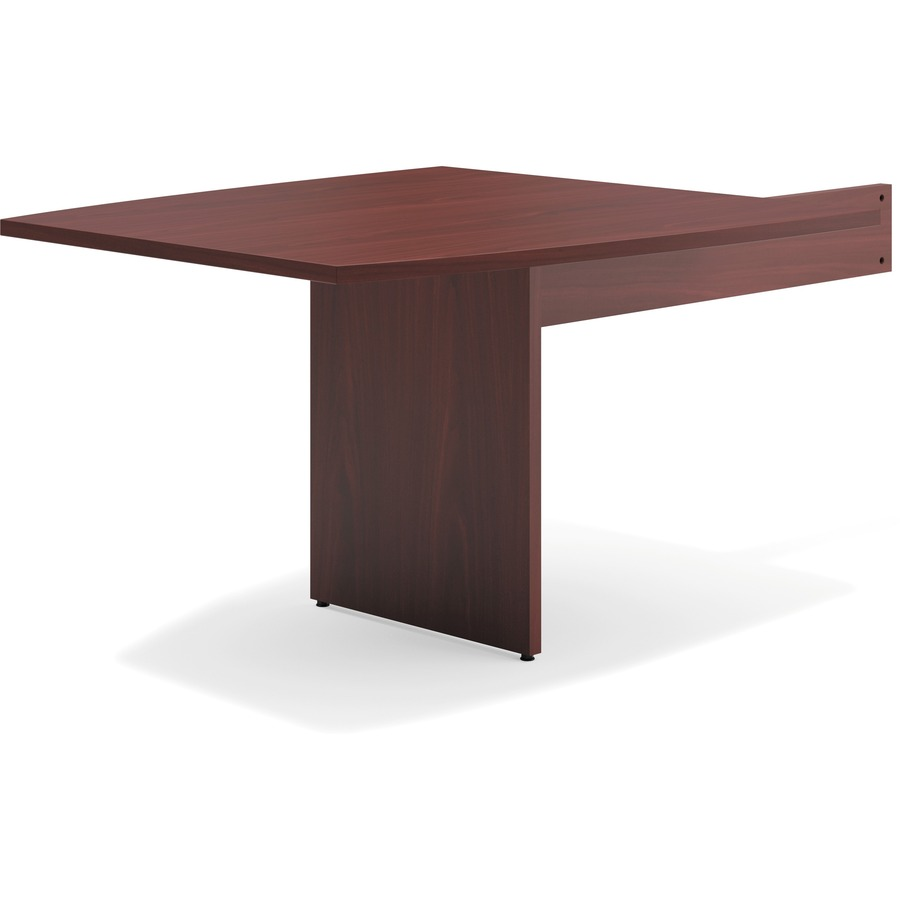 Basyx By HON Modular Conference Table Slab Base Boat End Goddess - Hon boat shaped conference table
