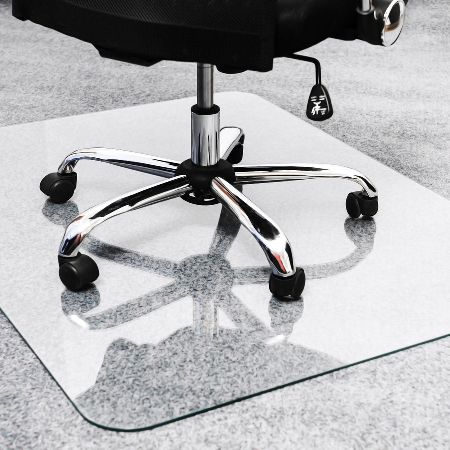 Cleartex Glaciermat Glass Chair Mat Hard Floor Home Office Carpet