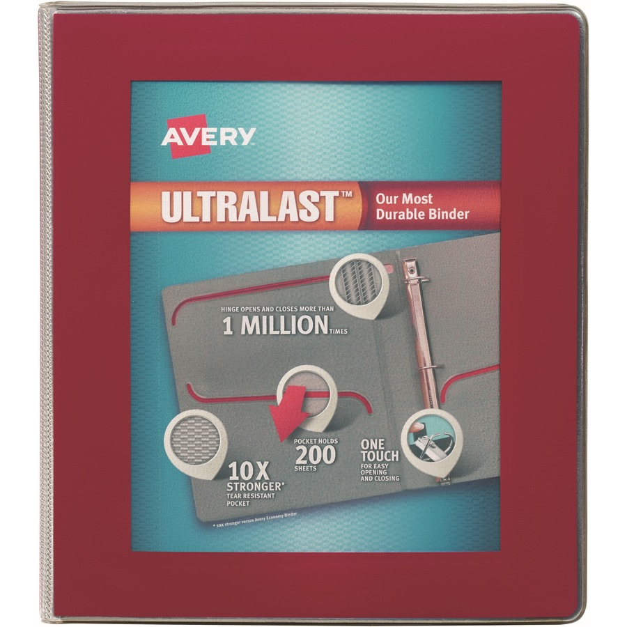 avery ultralast heavy duty view binders with one touch slant rings
