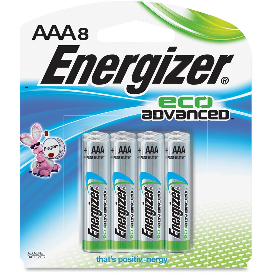 Energizer Ecoadvanced Aaa Batteries Evexr92bp8